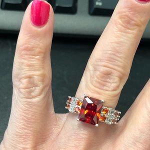 NEW Red Gemstone Fashion Ring